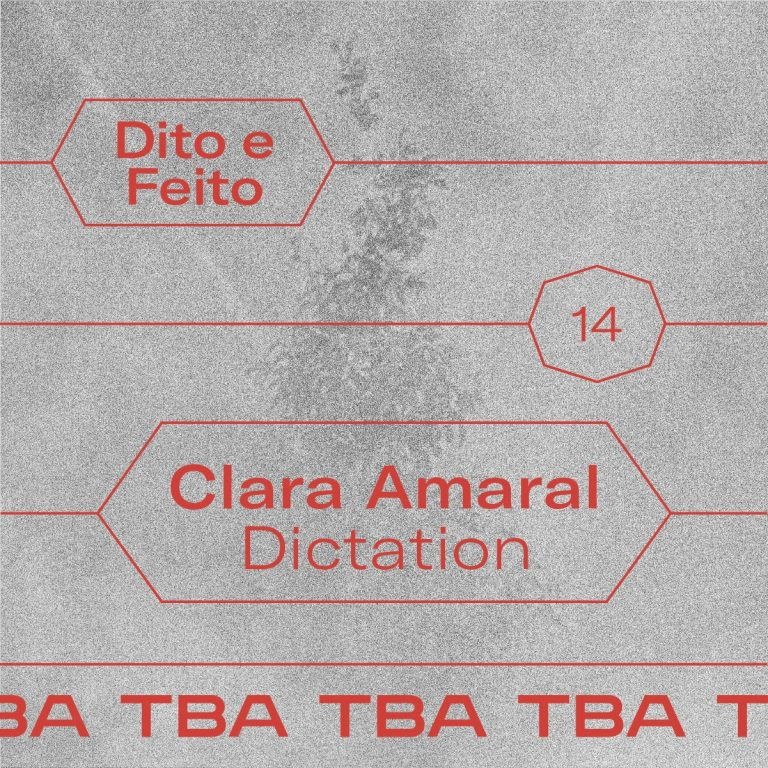 Ver Dito e Feito #14 Transcription Clara Amaral – Dictation