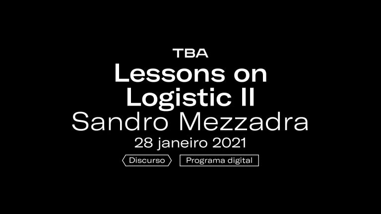 Ver Sandro Mezzadra – Lessons on Logistics II